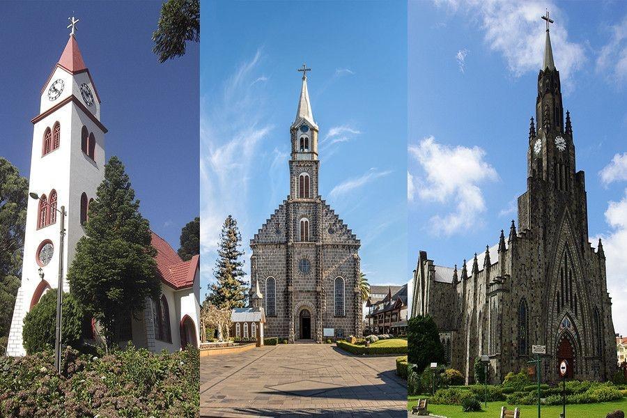 As igrejas de Gramado e Canela