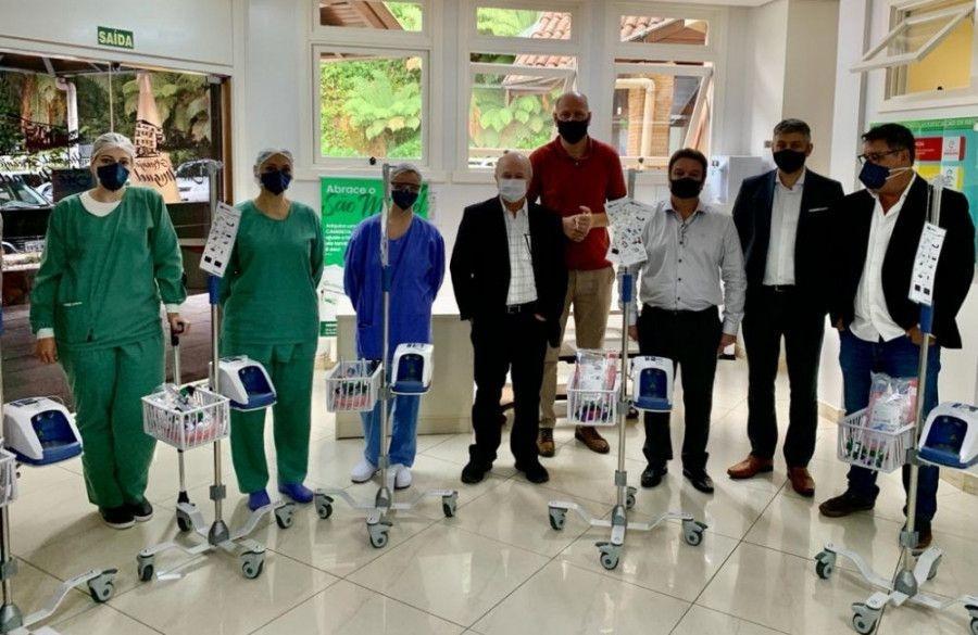Hospital São Miguel recebe cinco novos respiradores