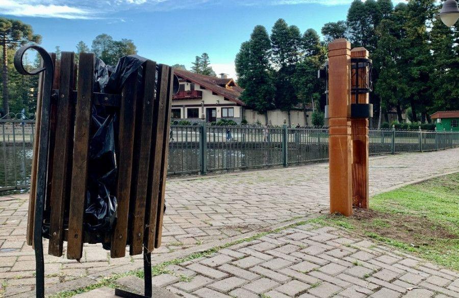 Prefeitura de Gramado inicia a instalação de novas lixeiras